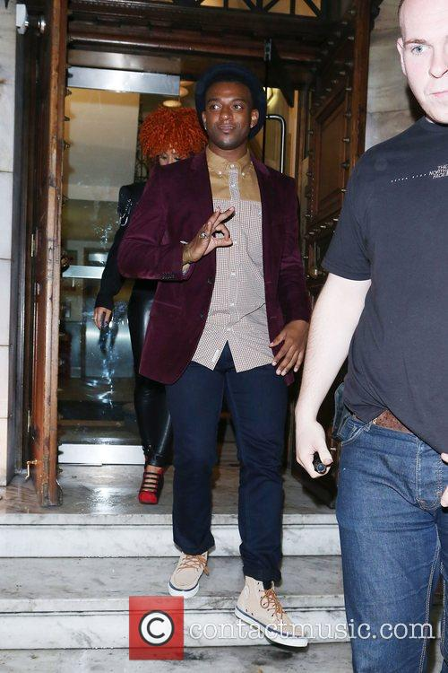 br>Oritse Williams of JLS  leaving Aura nightclub...