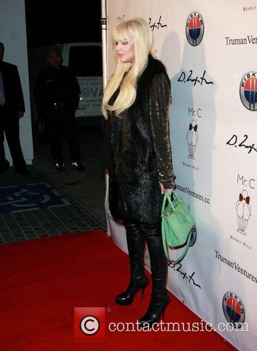 Lindsay Lohan Domingo Zapata's Oscar Art Show Presented...