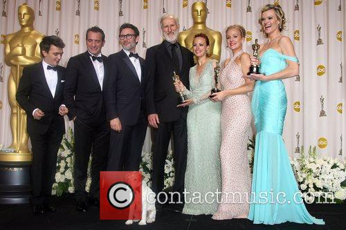 Thomas Langmann, Berenice Bejo, James Cromwell, Jean Dujardin, Michel Hazanavicius, Missi Pyle, Penelope Ann Miller and Academy Awards 2