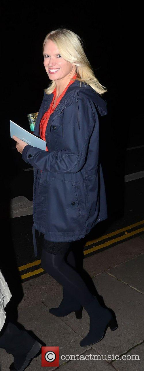Anneka Rice attending Oscar Wilde's 158th Birthday celebration...