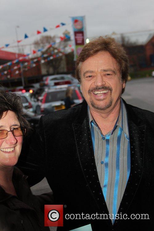 Arriving at venue cymru theatre Llandudno to perform