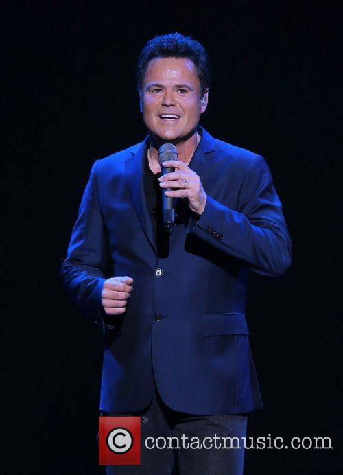 Donny Osmond performing during the Donny & Marie...