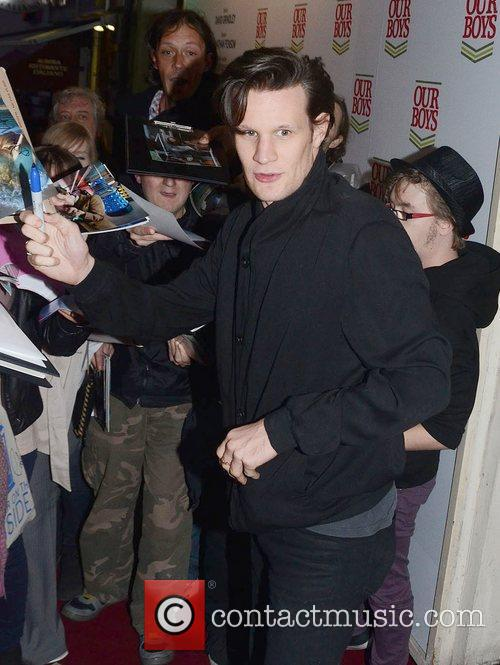 Matt Smith after attending a showing of 'Our...