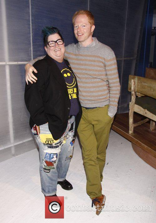 Backstage at the Off-Broadway comedy 'Out Of Iceland'...