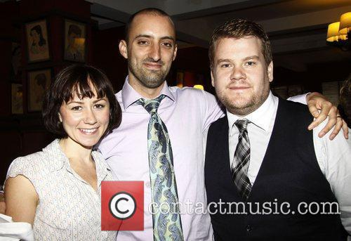 Claire Lams, Tom Edden and James Corden The...