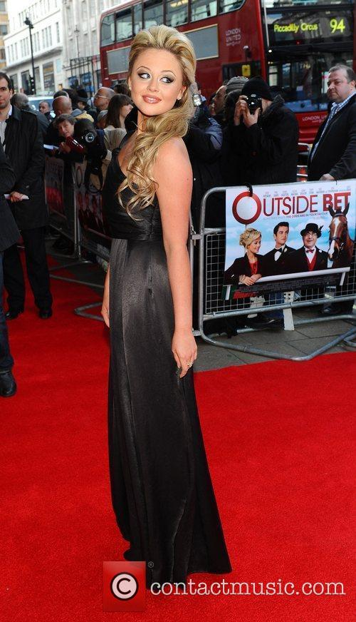Emily Attack Outside Bet - UK film premiere...