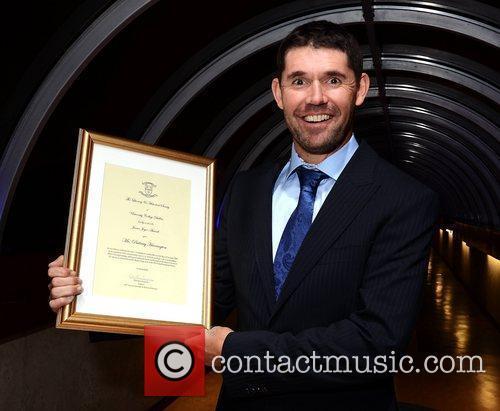 Ryder Cup Champion golfer Padraig Harrington is honoured...