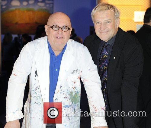 Charles Pachter and Alex Lifeson The Kidney Foundation's...