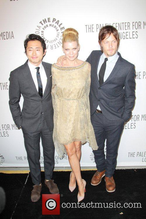 Steven Yeun, Lauren Cohan, Norman Reedus and Paley Center For Media 1