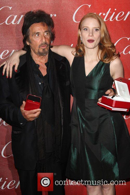 Al Pacino and Jessica Chastain The 23rd annual...