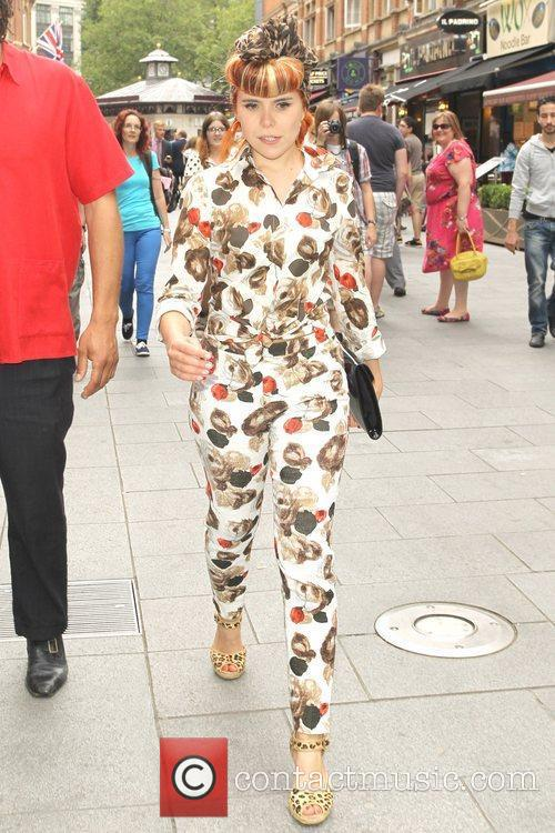 Paloma Faith is seen walking through Leicester Square