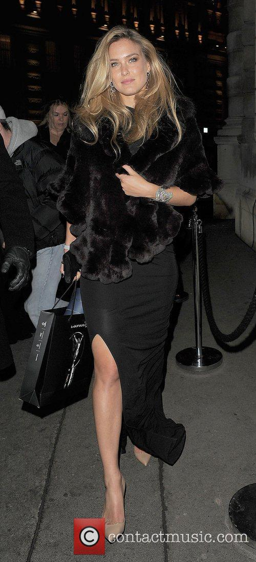 Bar Refaeli leaving a private party. London, England