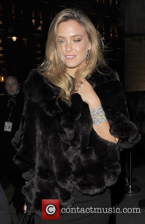 Bar Refaeli leaving a private party.
