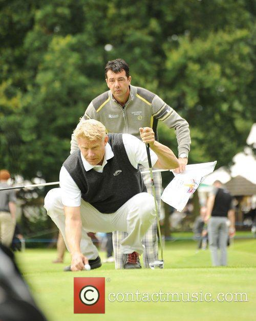 Peter Schmeichel and Richard O'Hanlon Farmfoods British Par...