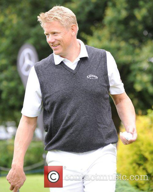 Peter Schmeichel Farmfoods British Par Three Golf competition...