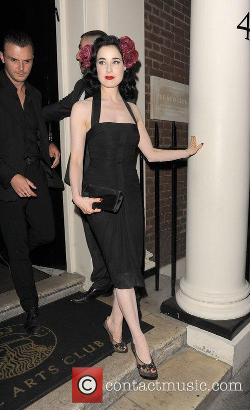 Dita Von Teese and Theo Hutchcraft leaving The...