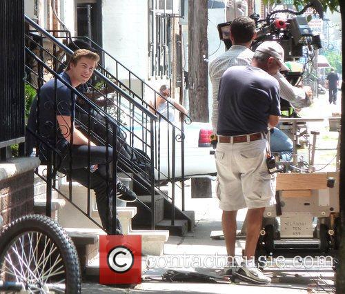 Liam Hemsworth on the set of his new...