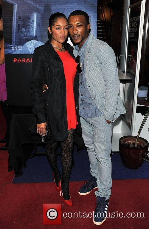 Ashley Walters and guest 'Paranormal Activity 4 Gala...