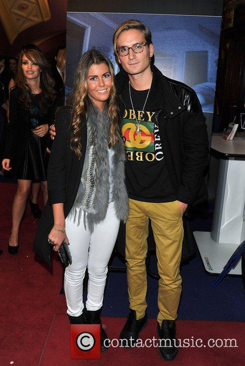Ollie Proudlock and guest 'Paranormal Activity 4 Gala...