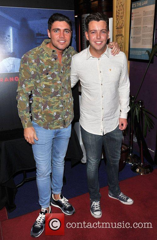 Tom Pearce and guest 'Paranormal Activity 4 Gala...