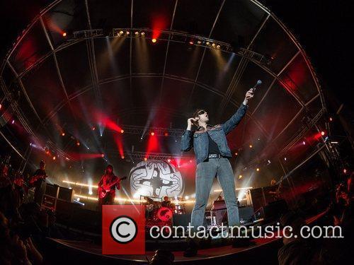 Kasabian performing live at the Festival Paredes de...