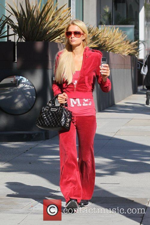 Paris Hilton is seen out doing some early...