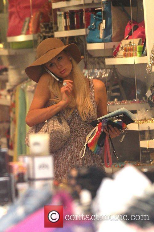 Paris Hilton out shopping at Kitson on Robberson...