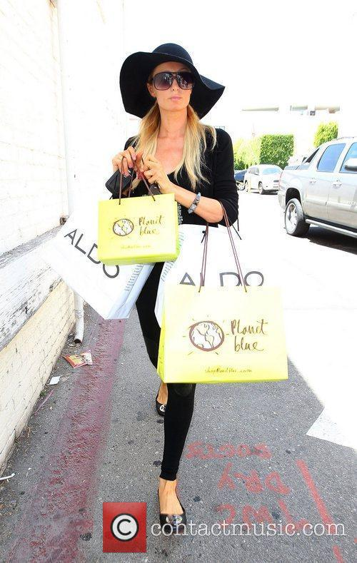 Paris Hilton  seen out shopping at Aldo...