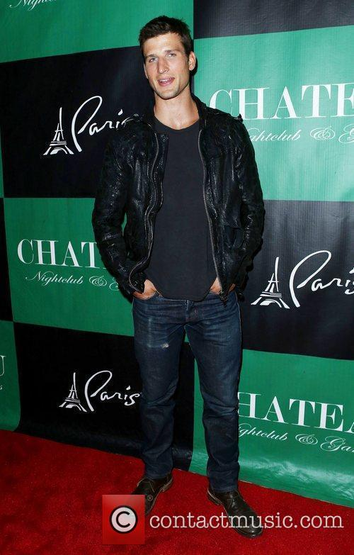 Parker Young Parker Young and Brit Morgan walk...
