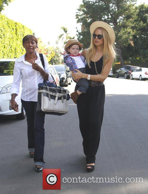 Rachel Zoe taking son Skyler Berman, who is...