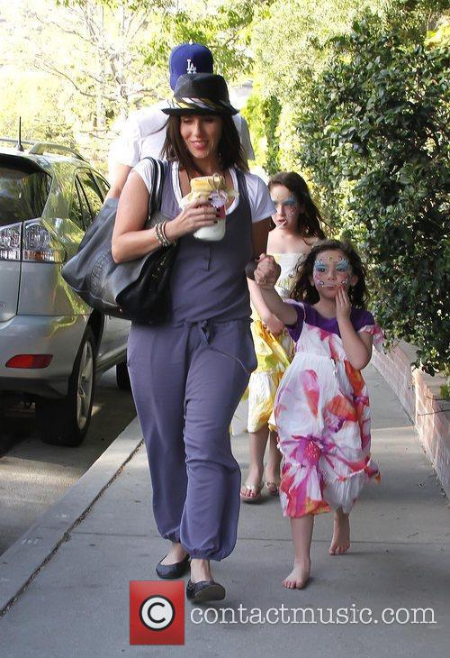 Soleil Moon Frye with daughters Poet and Jagger...