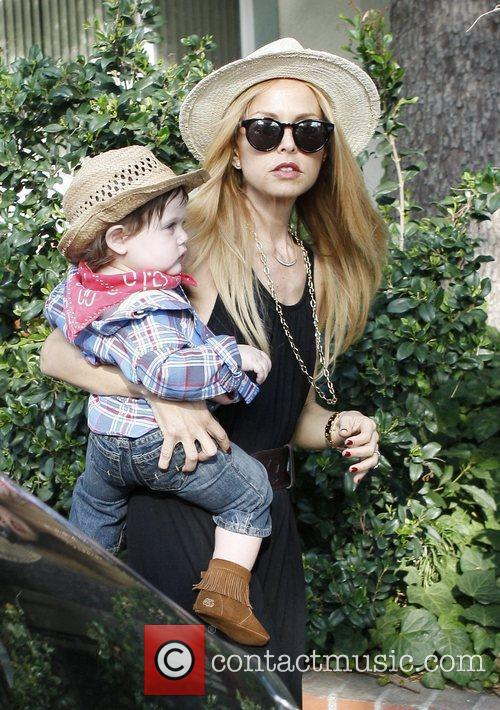 Rachel Zoe with son Skyler Berman, who is...