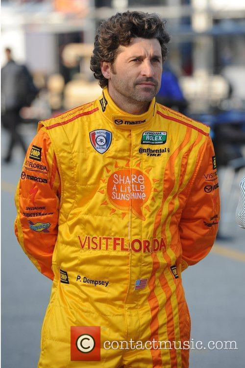 Patrick Dempsey appears during testing for Rolex Sports...