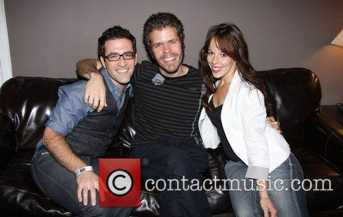 Ben Rimalower, Perez Hilton and Leslie Kritzer backstage...