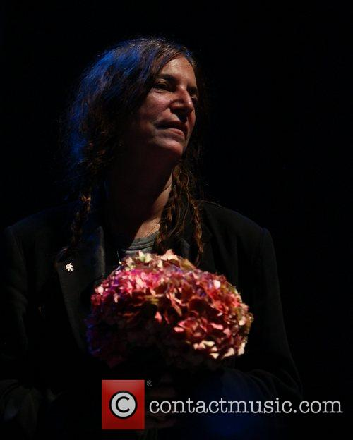 Patti Smith performs live at The Troxy in...
