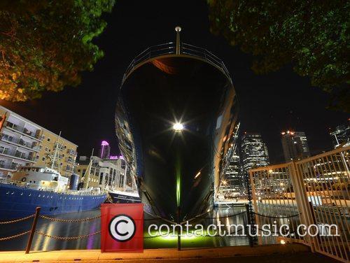Microsoft founder Paul Allen's yacht Octopus, moored in...