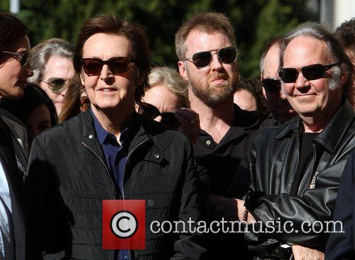 Sir Paul McCartney, Neil Young and Star On The Hollywood Walk Of Fame 2