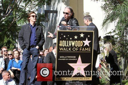 Sir Paul McCartney, Neil Young and Star On The Hollywood Walk Of Fame 3