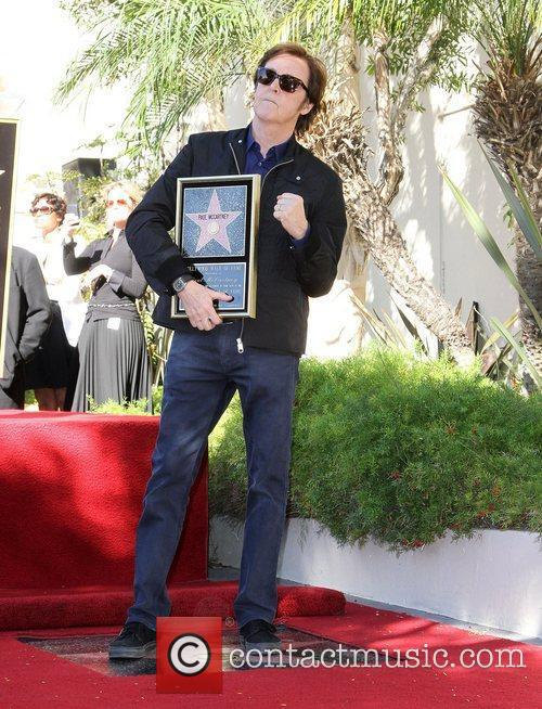Sir Paul McCartney and Star On The Hollywood Walk Of Fame 3