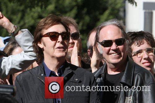 Sir Paul McCartney, Neil Young and Star On The Hollywood Walk Of Fame 4