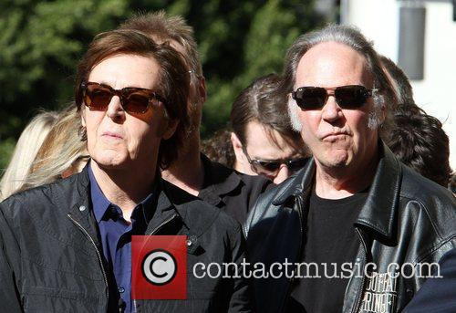 Sir Paul McCartney, Neil Young and Star On The Hollywood Walk Of Fame 1