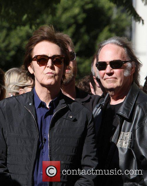 Sir Paul McCartney, Neil Young and Star On The Hollywood Walk Of Fame 6