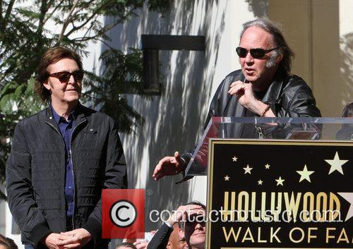 Sir Paul McCartney, Neil Young and Star On The Hollywood Walk Of Fame 8
