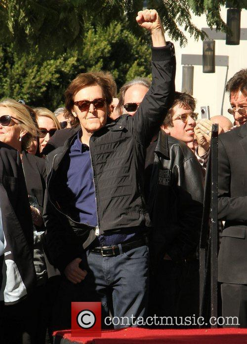 Sir Paul McCartney and Star On The Hollywood Walk Of Fame 17