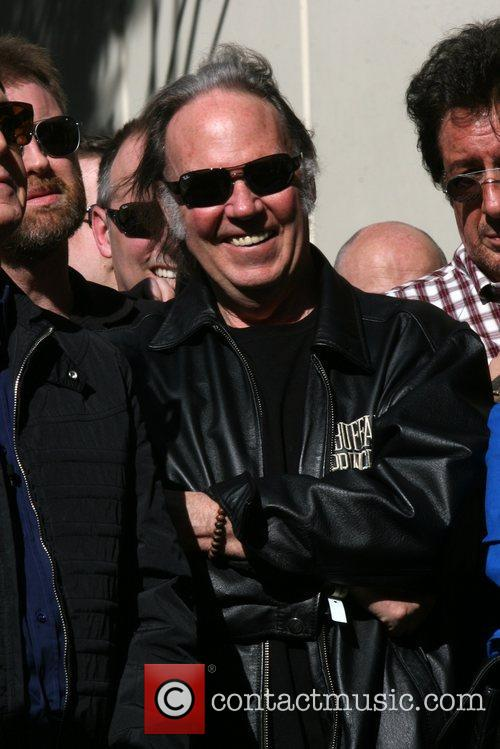 Neil Young and Star On The Hollywood Walk Of Fame 2