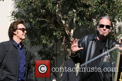 Sir Paul Mccartney, Neil Young and Star On The Hollywood Walk Of Fame 11