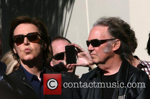 Sir Paul McCartney, Neil Young, Star On The Hollywood Walk Of Fame