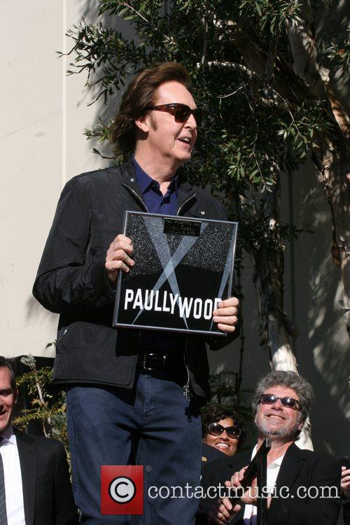 Sir Paul McCartney and Star On The Hollywood Walk Of Fame 27
