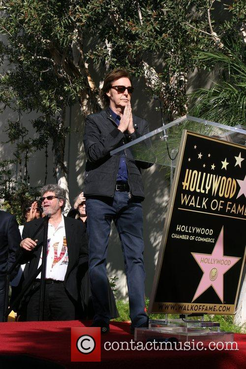 Sir Paul McCartney and Star On The Hollywood Walk Of Fame 28