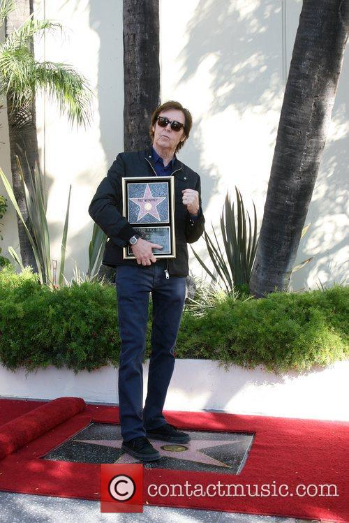 Sir Paul McCartney and Star On The Hollywood Walk Of Fame 29